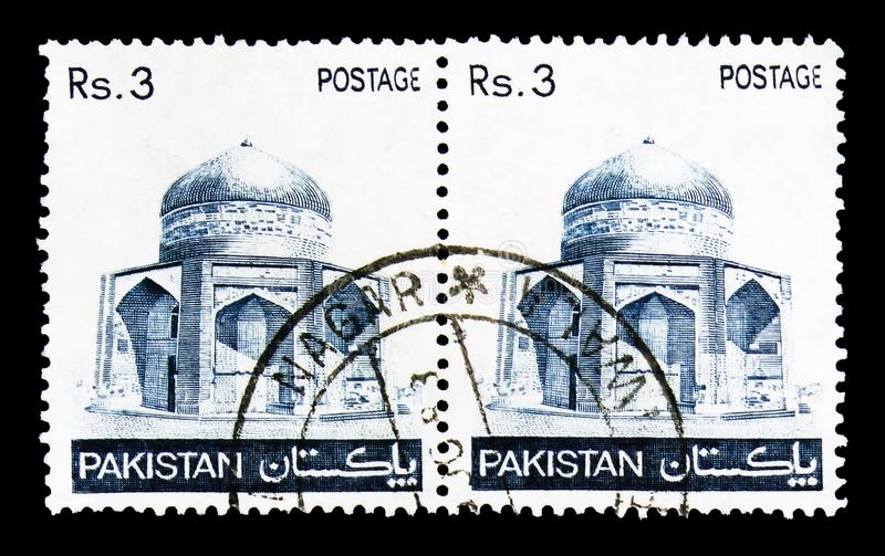 Mausolée d'Ibrahim Khan Makli Thatta, serie, vers 1980 photos libres de droits