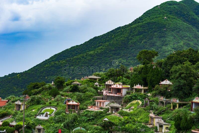 Mausolée dans le village de Jiufen , Ta?wan la tache de touristes célèbre et la scène populaire à Taïwan photos libres de droits