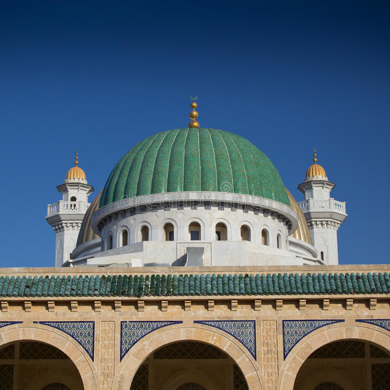 Mausolée dans Monastir, Tunisie images stock