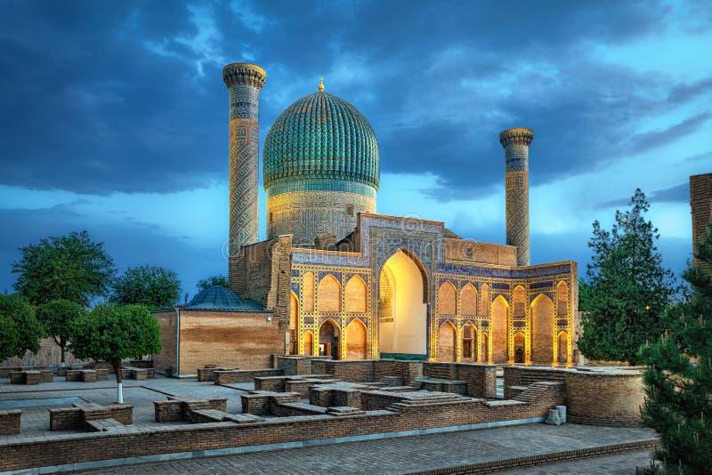 Mausolée de Gur-e-Amir à Samarkand, l'Ouzbékistan photographie stock libre de droits