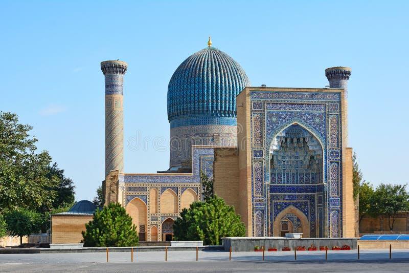 Mausolée de Gur Emir de Tamerlane ou d'Amir Timur à Samarkand, l'Ouzbékistan photographie stock libre de droits
