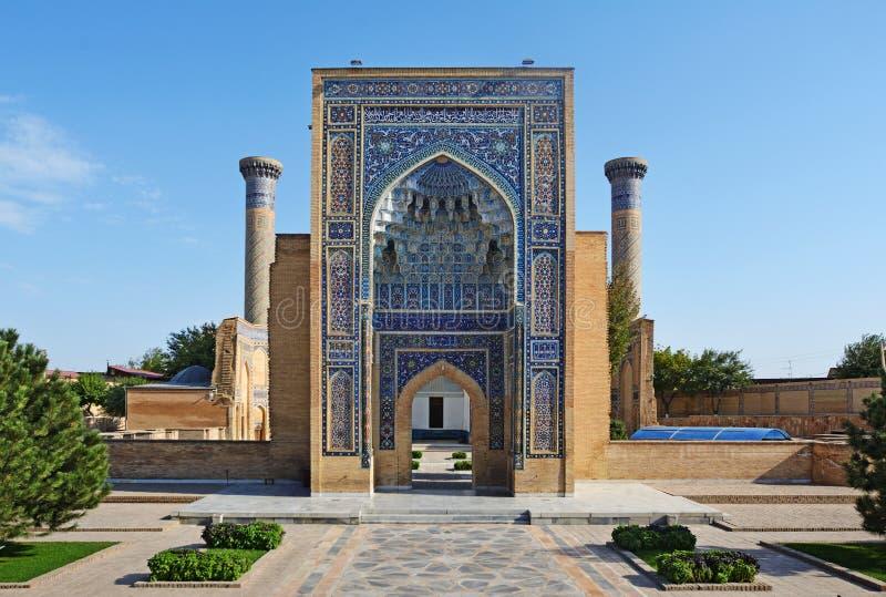 Mausolée de Gur Emir de Tamerlane ou d'Amir Timur à Samarkand, l'Ouzbékistan photo stock