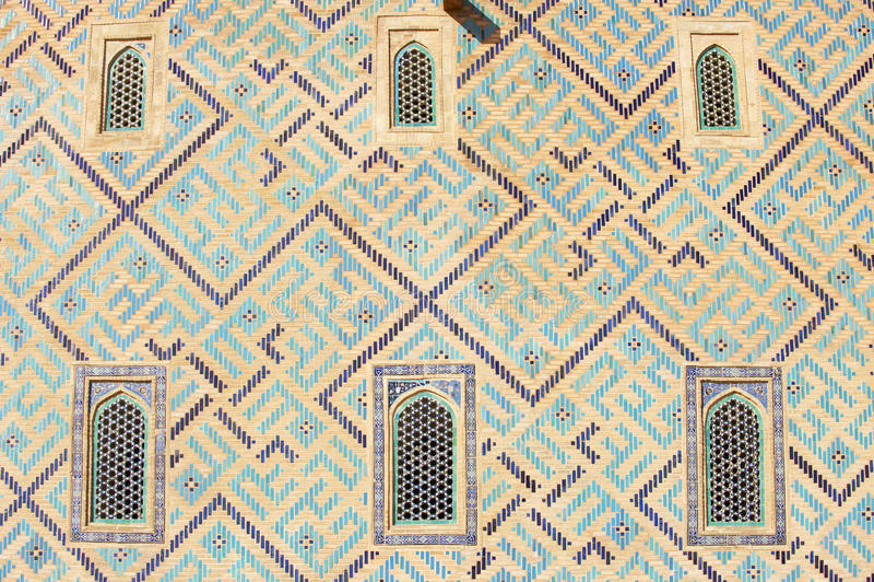 Mausolée de Khoja Ahmed Yasavi dans Turkistan, Kazakhstan image libre de droits