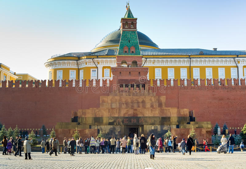 Mausolée de Lénine à Moscou image stock