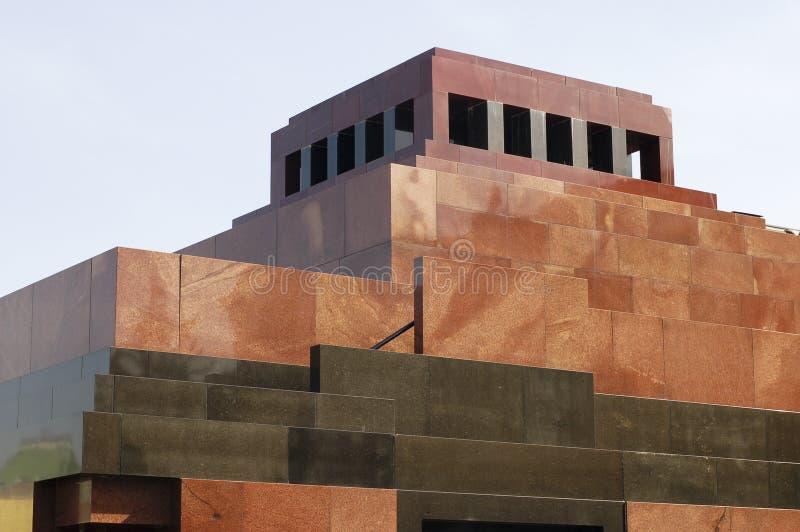 Mausolée de Lénine, grand dos rouge image stock