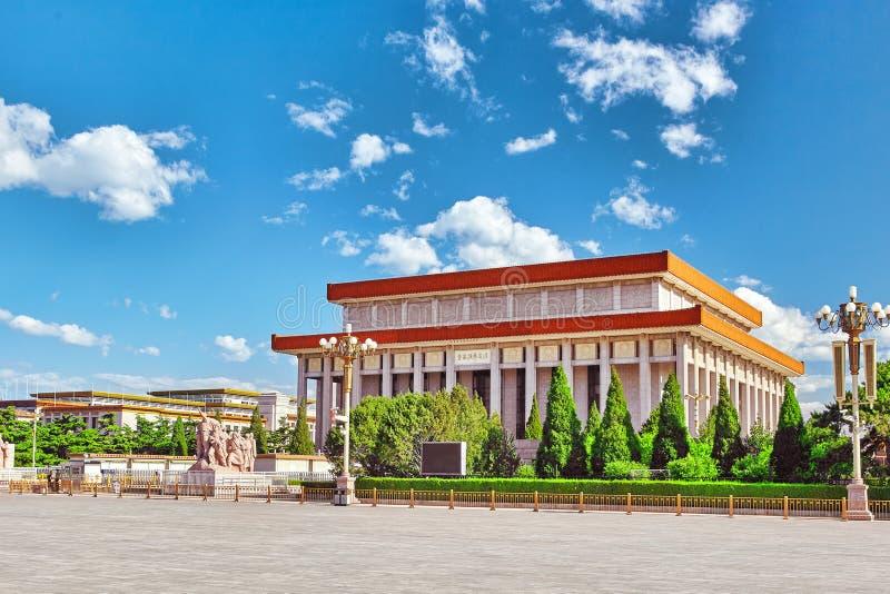 Mausolée de Mao Zedong sur la place de Tiananmen le tiers - le plus grand squa image libre de droits
