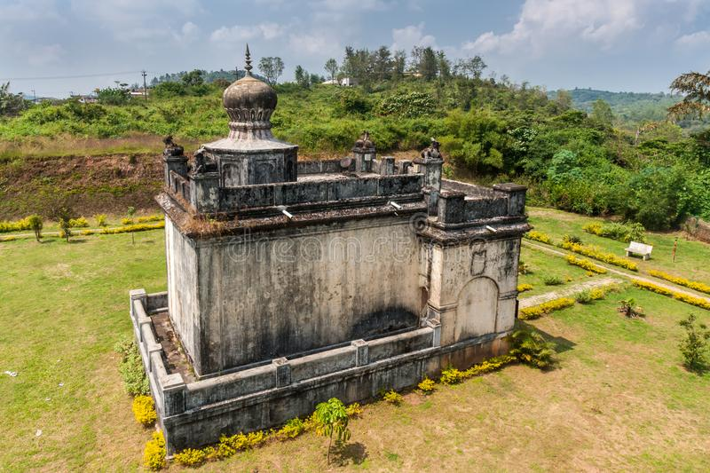 Mausolée de Rudrapa au domaine Raja Tombs, Inde de Madikeri images libres de droits