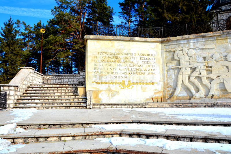 Mausolée des héros dans Mateias, près de Campulung image stock