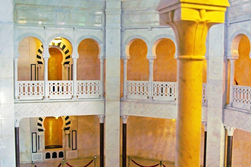 Mausolée intérieur de Habib Bourgiba image stock