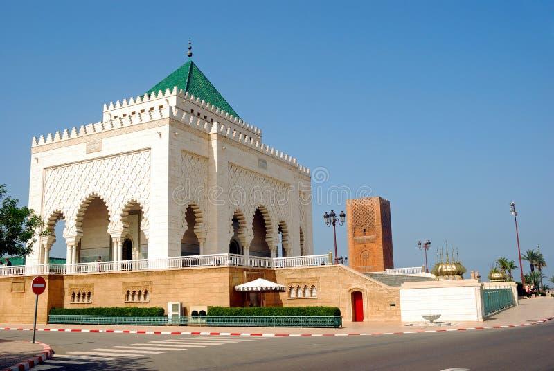 mausolée Mohamed Maroc rabat v image stock