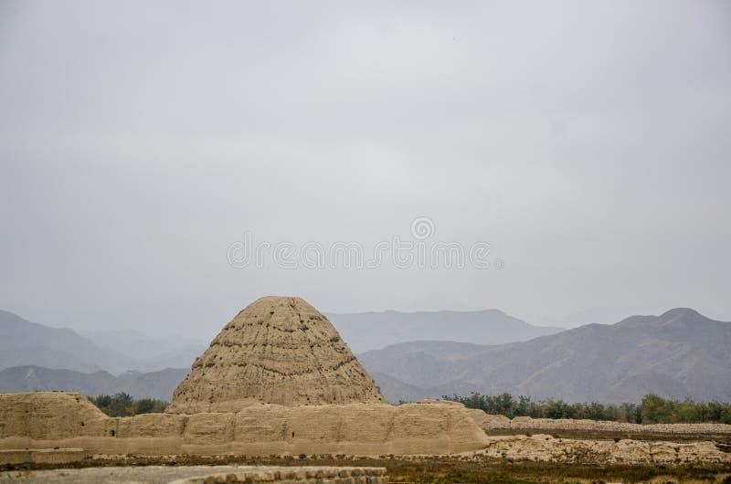 Mausoléu da dinastia Xia Mausoleum ocidental de Xixia fotografia de stock royalty free