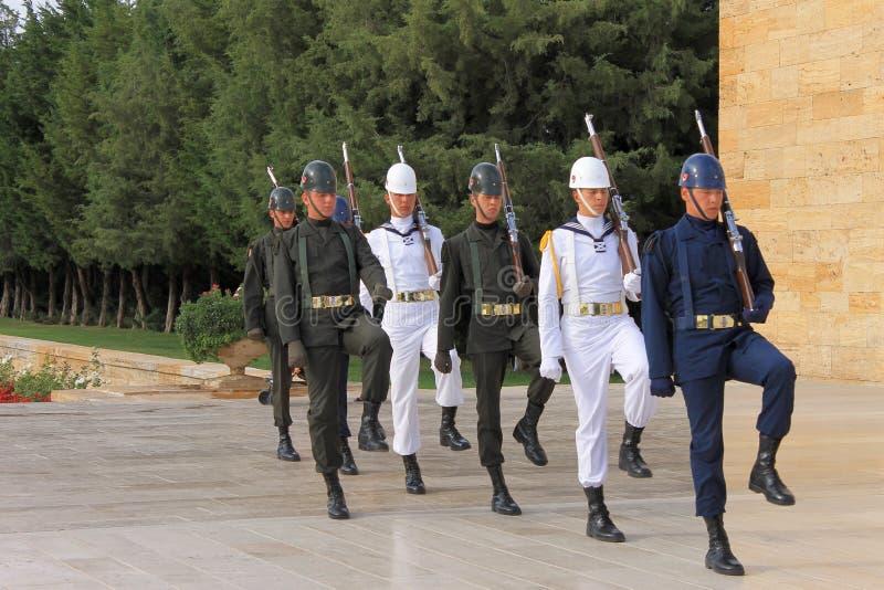 Mausoléu de Anitkabir de Ataturk, Ancara, Turquia imagem de stock royalty free