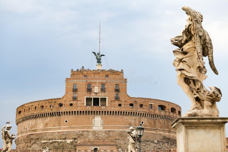Mausoléu de Hadrian - Castel Sant Angelo em Roma, Itália imagem de stock royalty free