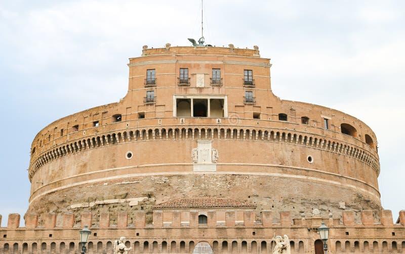 Mausoléu de Hadrian - Castel Sant Angelo em Roma, Itália fotografia de stock
