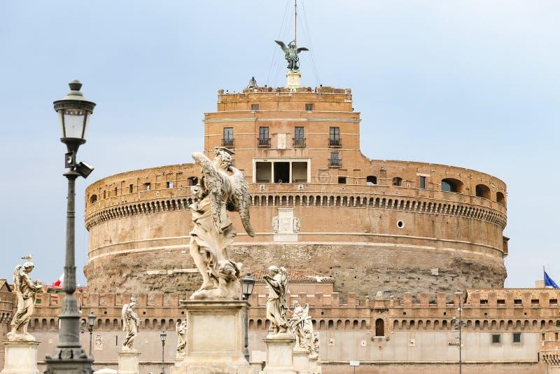 Mausoléu de Hadrian - Castel Sant Angelo em Roma, Itália fotos de stock royalty free