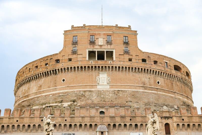 Mausoléu de Hadrian - Castel Sant Angelo em Roma, Itália foto de stock