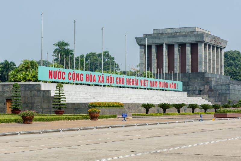 Mausoléu de Ho Chi Minh em Hanoi imagens de stock