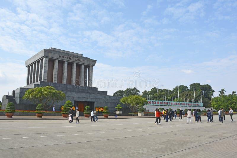Mausoléu de Ho Chi Minh em Hanoi imagens de stock royalty free