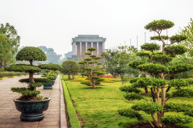 Mausoléu de Ho Chi Minh em Hanoi imagem de stock royalty free