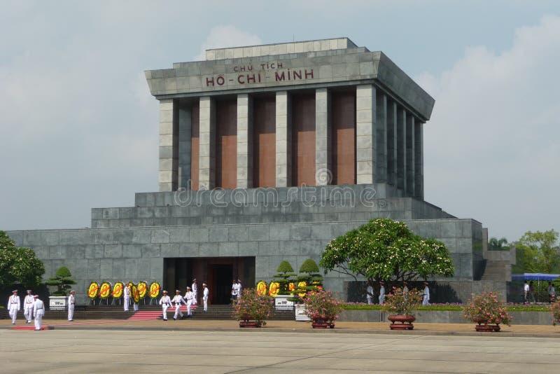 Mausoléu de Ho Chi Minh em Hanoi, Vietnam imagens de stock royalty free