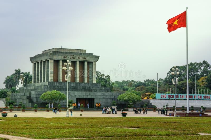 Mausoléu de Ho Chi Minh em Hanoi, Vietnam fotografia de stock