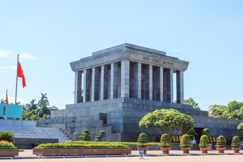 Mausoléu de Ho Chi Minh em Hanoi, Vietnam imagens de stock