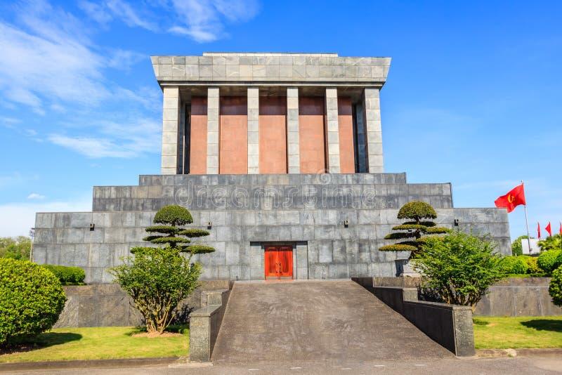 Mausoléu de Ho Chi Minh em Hanoi, Vietnam fotos de stock royalty free