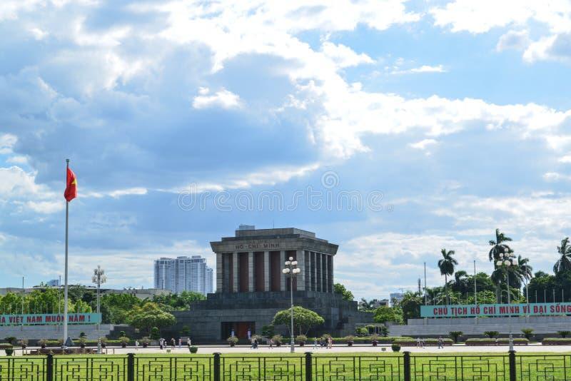 Mausoléu de Ho Chi Minh na cidade Vietnam de hanoi foto de stock royalty free
