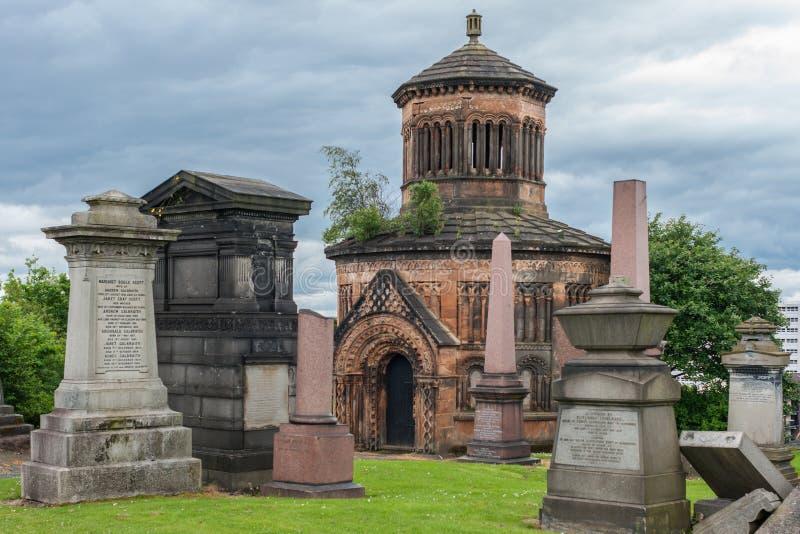 Mausoléu de Major Archibald Douglas Monteath em Glasgow Necropo imagens de stock