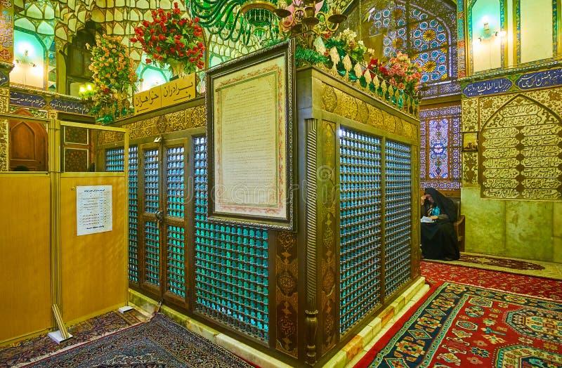 Mausoléu de Mohammad Bagher Shafti, Isfahan, Irã fotografia de stock