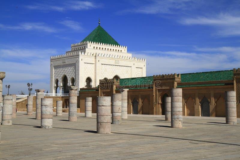 Mausoléu de Mohammed V imagens de stock royalty free