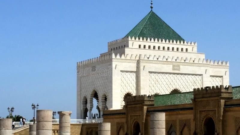 Mausoléu de Mohammed V imagem de stock