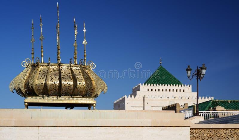 Mausoléu de Mohammed V em Rabat, Marrocos fotografia de stock royalty free