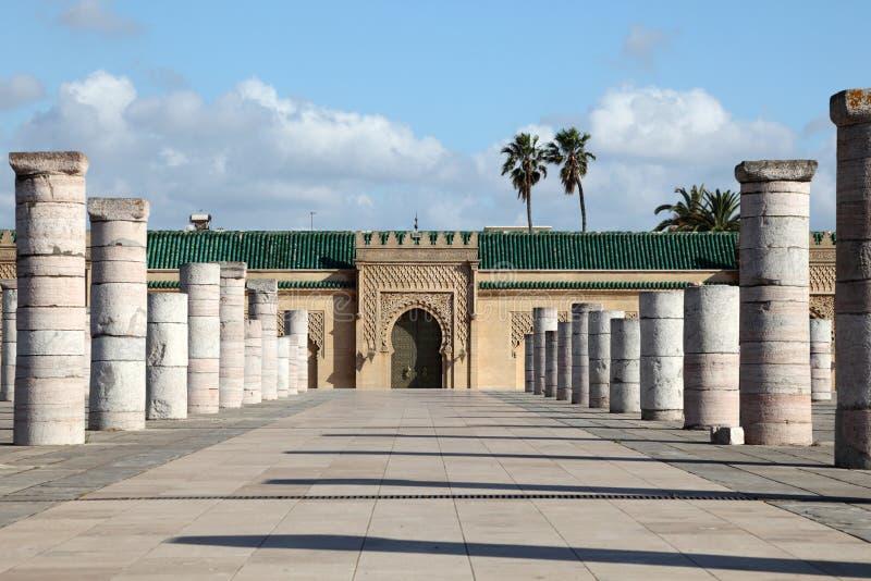 Mausoléu de Mohammed V, Rabat fotografia de stock