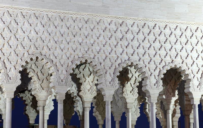 Mausoléu de Mohammed V, Rabat imagem de stock