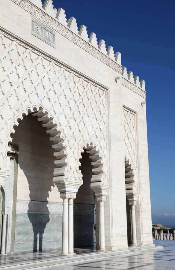 Mausoléu de Mohammed V, Rabat fotos de stock royalty free