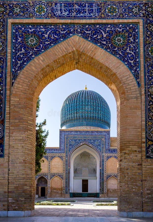 Mausoléu do Amir de Gur-e de Timur - Samarkand, Usbequistão imagem de stock royalty free