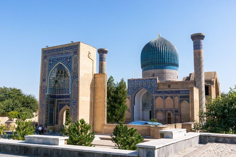 Mausoléu do Amir de Gur-e de Timur - Samarkand, Usbequistão imagens de stock