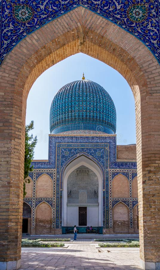 Mausoléu do Amir de Gur-e de Timur - Samarkand, Usbequistão fotografia de stock
