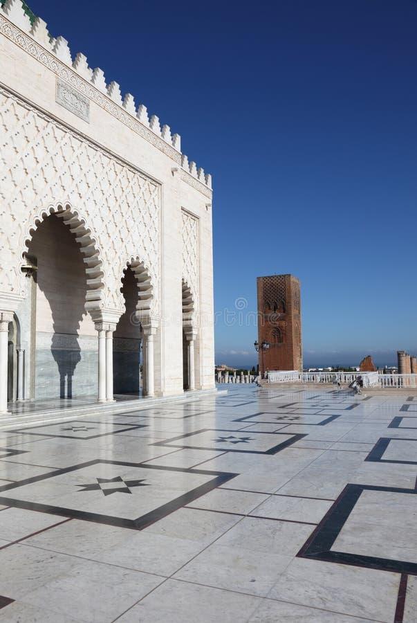 Mausoléu em Rabat, Marrocos imagens de stock