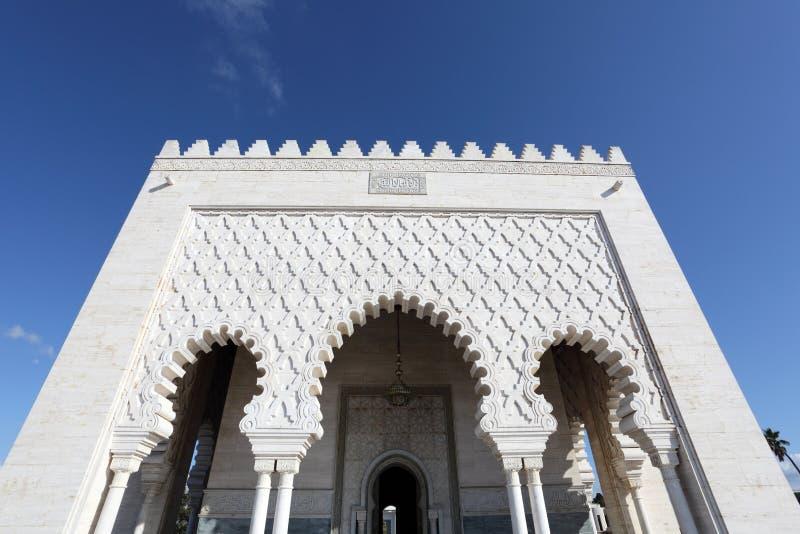 Mausoléu em Rabat, Marrocos foto de stock