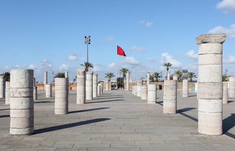 Mausoléu em Rabat, Marrocos fotografia de stock royalty free