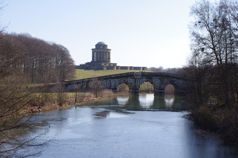 Mausoleo al castello Howard fotografia stock libera da diritti
