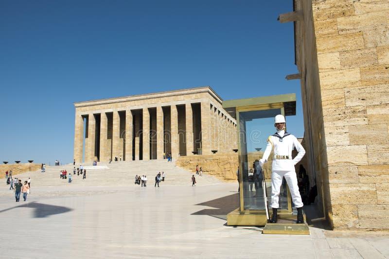 Mausoleo Atatürk, corsa ad Ankara Turchia fotografie stock