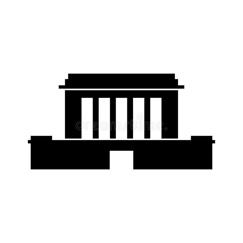 Mausoleo, costruzione indipendente del monumento illustrazione di stock