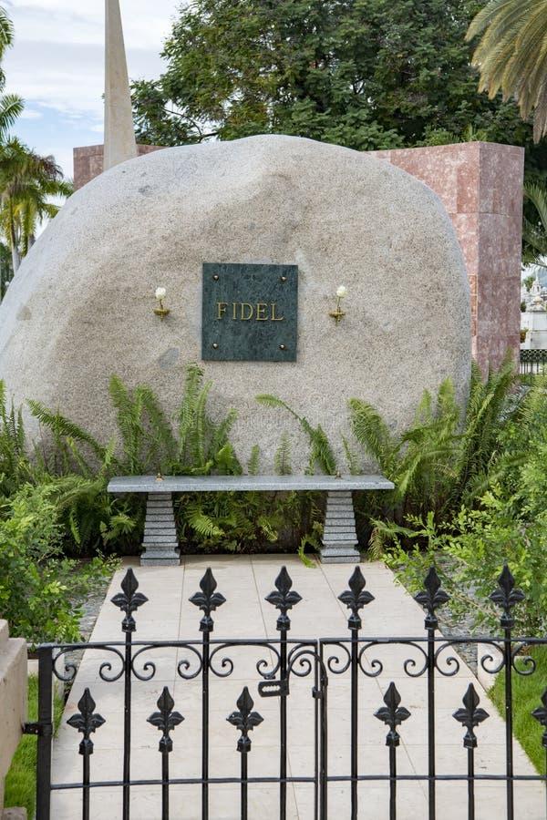 Mausoleo de Fidel Castro, Santiago de Cuba foto de archivo