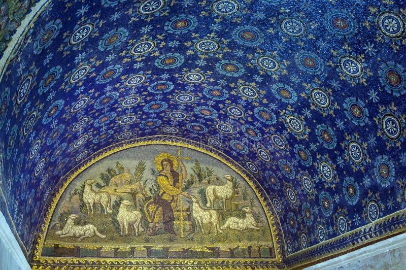 Mausoleo de Galla Placidia, Ravena, Italia fotografía de archivo