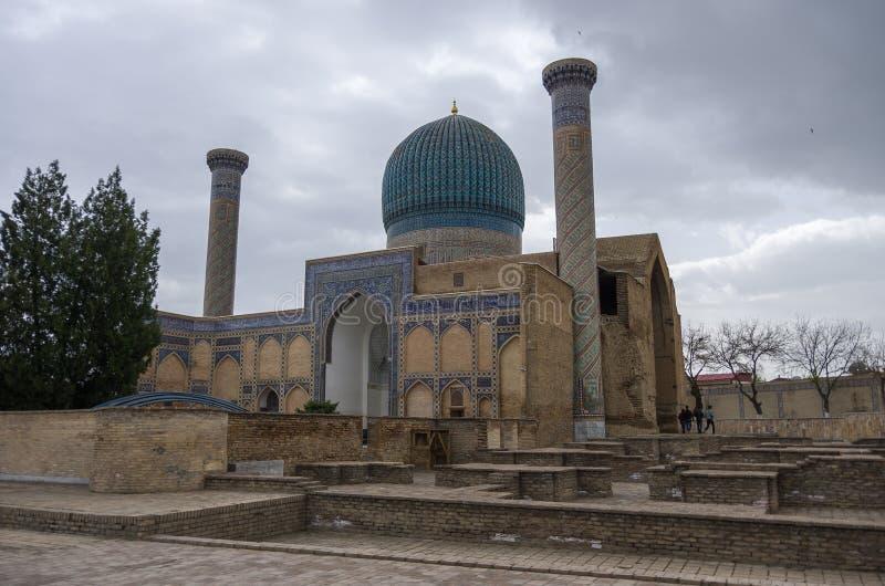 Mausoleo de Gur Emir del conquistador asiático Tamerlane (también conocido fotos de archivo