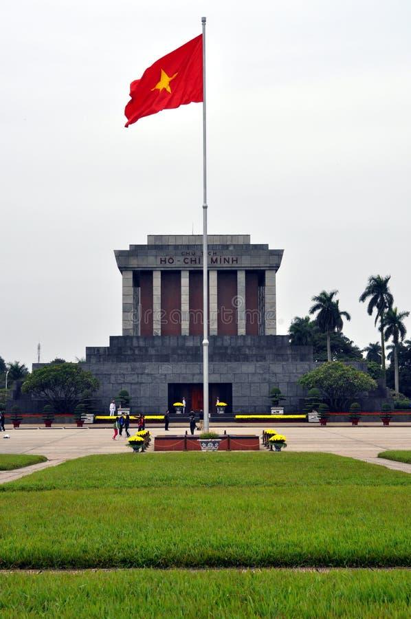 Mausoleo de Ho Chi Minh Tomb en Hanoi, Vietnam foto de archivo