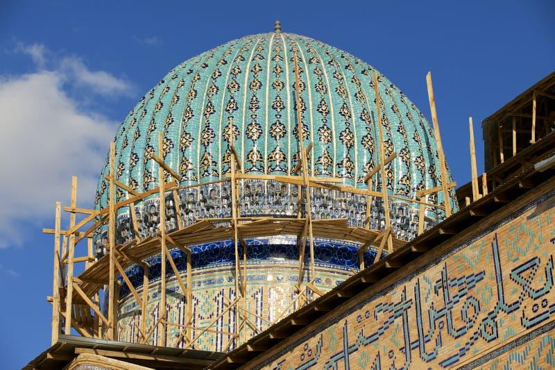 Mausoleo de Khoja Ahmed Yasavi en Turkistan, Kazajistán fotografía de archivo